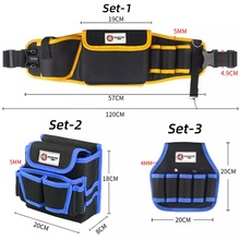 Oxford Cloth Pouch Storage Belt Bag Waterproof Scratch Resistant Tool bag for Electrician Maintenance Convenience to Work