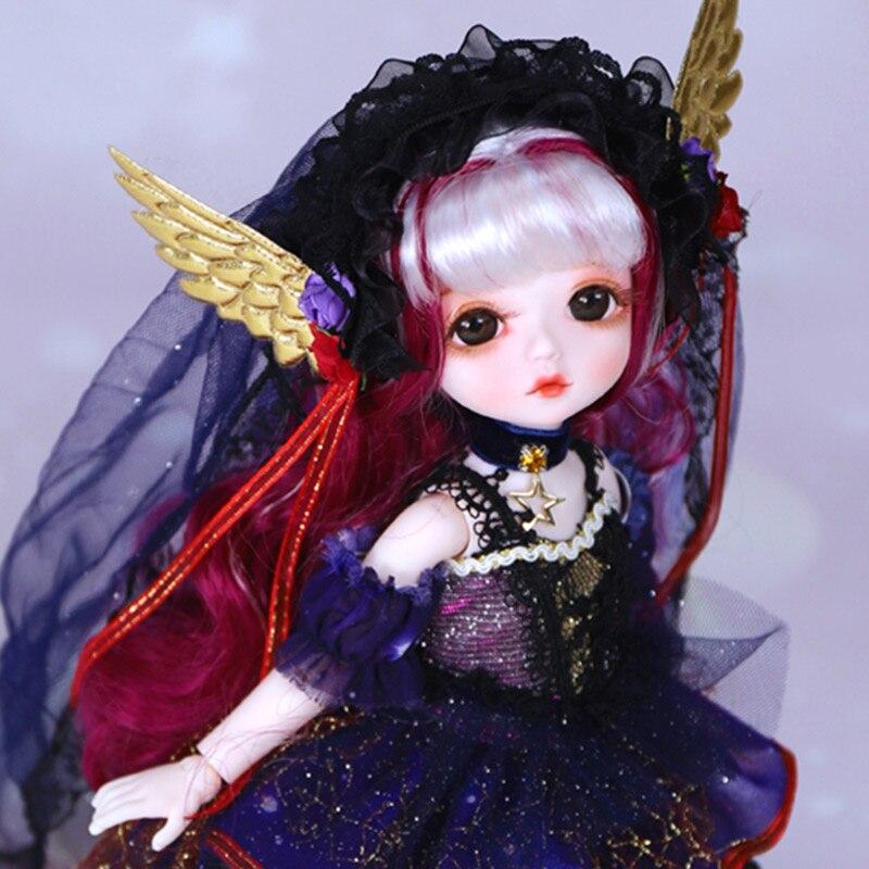 Dbs sonho fada boneca 1/6 bjd nome por pouco anjo mecânico corpo comum com maquiagem, incluindo couro cabeludo, olhos, roupas meninas sd, yosd