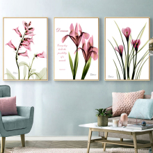 Yuke Art Modern Tulip Flower Prints Wall Art Canvas Paintings Floral Poster Scandinavia Pictures for Living Room Decorative