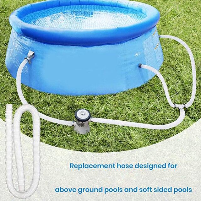1/2 pièces tuyau de remplacement pour piscines hors sol 1.25 pouces de diamètre piscine pompe accessoire 59 pouces de Long P7Ding