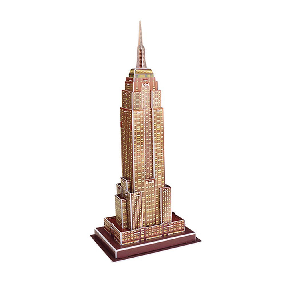 Mini Magic World Architecture Eiffel Tower Statue Of Liberty Card Paper 3D Puzzle Building Models Educational Toys Kids