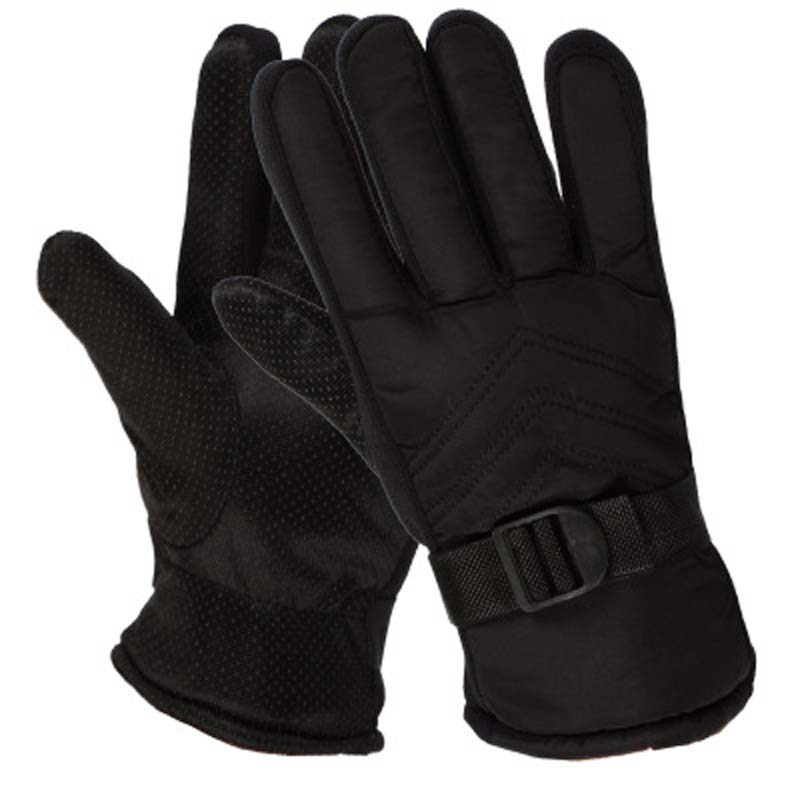 Men's Winter Warm Motorcycle Thickening Plus Velvet Cold Cotton Gloves