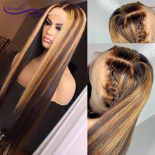 Highlight Honey Blonde Lace Front Human Hair Wigs With Baby