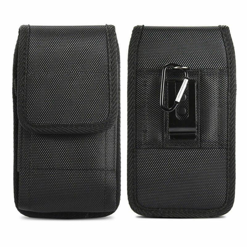 New Cell Phones Horizontal Oxford Black Carrying Vertical Pouch Case Cover With Belt Clip Holster