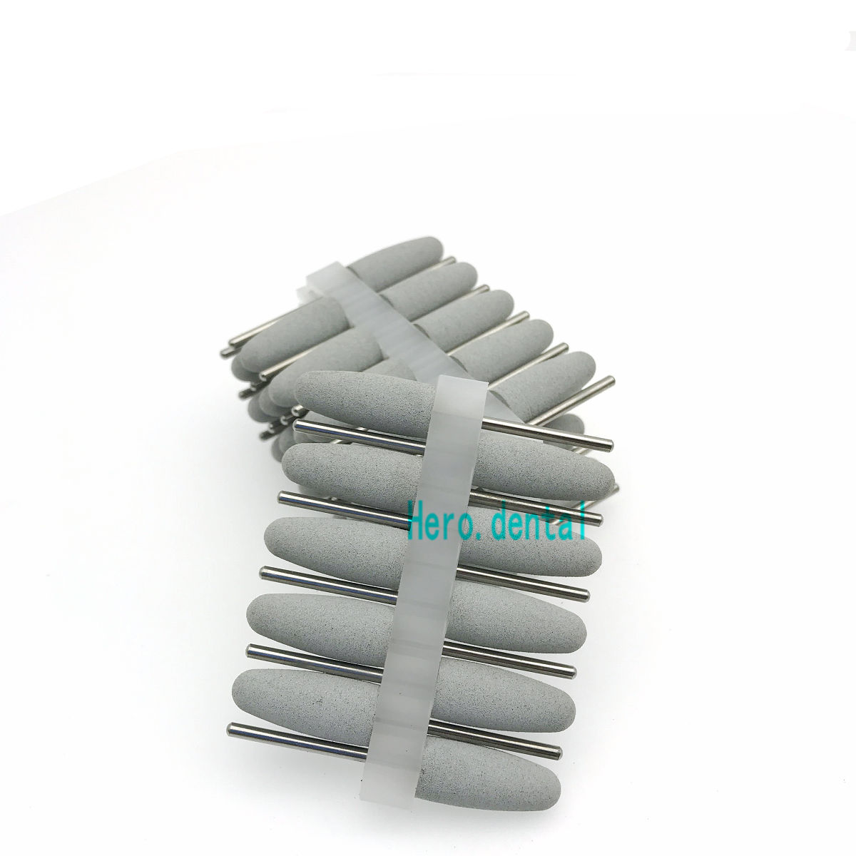 50pcs Silicon Rubber Polishers Dental Polishing Burs For Resin Base Grey
