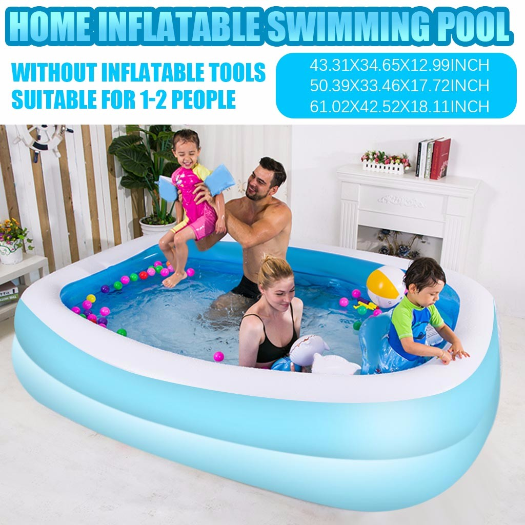 Swimming Pools For Family Kids Inflatable Pool High Quality Children's Home Use Paddling Large Size Inflatable Square Swimming