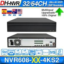 Dahua Original Ultra NVR NVR608 32 4KS2 NVR608 64 4KS2 32/64 CH H.265 Max 384Mbps 12MP Resolution Multi Screen Smart Tracking