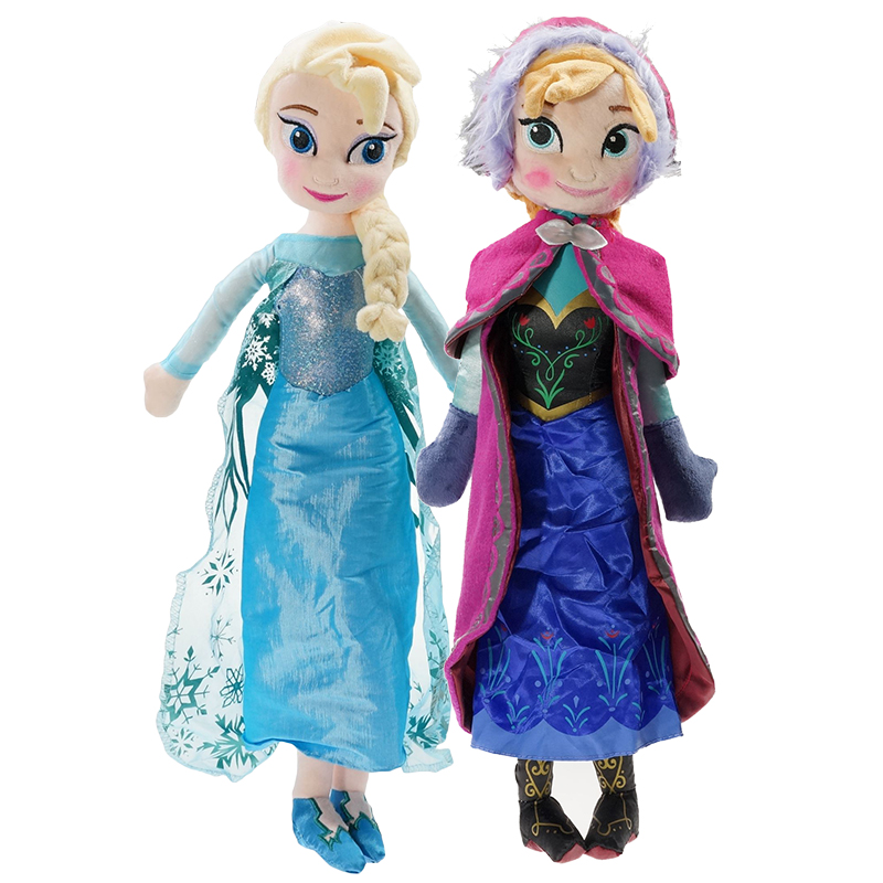Disney Frozen  Plush Doll Toys Gifts Cute Girls Toys Princess Anna& Elsa Doll Girl Birthday Gifts Toys