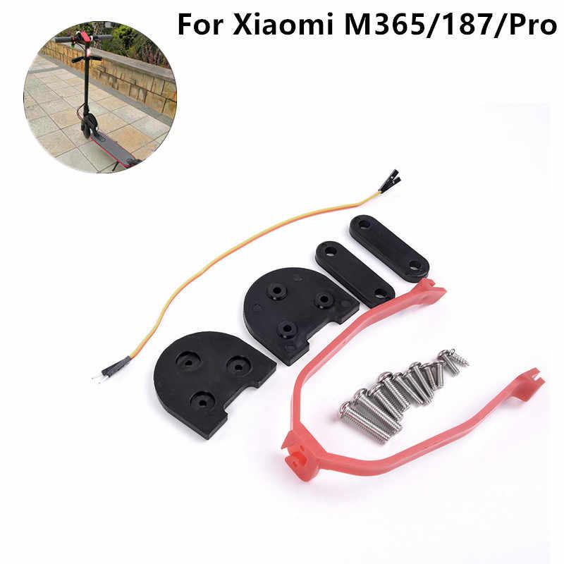10in Scooter guardabarros trasero guardabarros soporte de protección Junta guardabarros trasero Set para Xiaomi Mijia M365 accesorio de repuesto