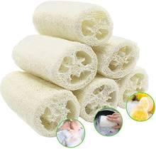 6pcs natural loofah sponge scrubberloofa bath body shower kitchen