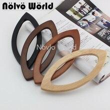 2 10 20 pieces 4 Colors 20X9.5cm lip shape wood handle for knit bag,oka tree wooden simply crochet bag pen handles