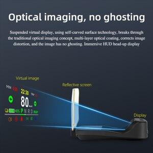 Image 2 - T2 HUD הראש למעלה תצוגה מראה ניווט אבחון כלים מחוון אור שעון רכב מהירות ערפל אור 2021 עבור טסלה דגם 3