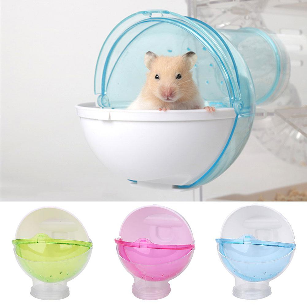 Mini Round External Bathroom For Pet Hamster Cage Travel Warm Bags Cages Guinea Pig Carry Pouch For Chihuahua Cat Accessories