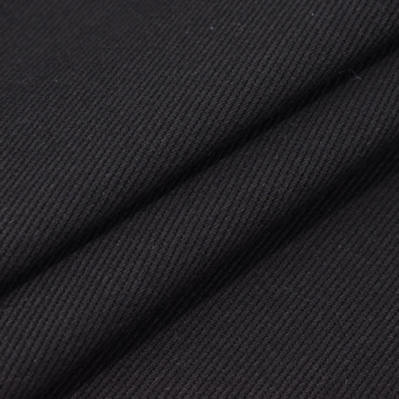 Factory wholesale twill woven black denim fabric 100% cotton 7.6oz thick