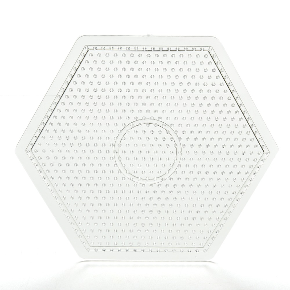 1 Pcs Square Round Hexagon Pegboards Transparent For 5mm Hama Beads DIY Kids