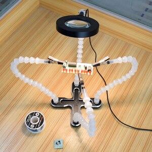 Image 5 - Toolour Löten Station mit 4pc Flexible Arme Löten Eisen Halter Dritte Helfende Hand Werkzeug PCB Schweißen Reparatur Schweißen Tool