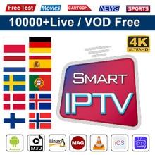 IPTV Spain M3U Subscription 1 Year Arabic Portugal IPTV 4K Italy Poland Tunisia India Code Smart tv IPTV Greek Czech Chile IP TV poland chile