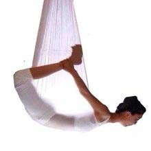 Rede aérea de 5m com elástico, yoga, balanço, multifunções, anti-gravidade, yoga, cinto de treinamento