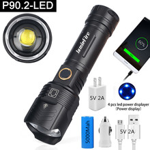 Flashlight Led XHP90 Rechargeable-Lamp Powerful Zoom 26650 Battery Camp USB Waterproof