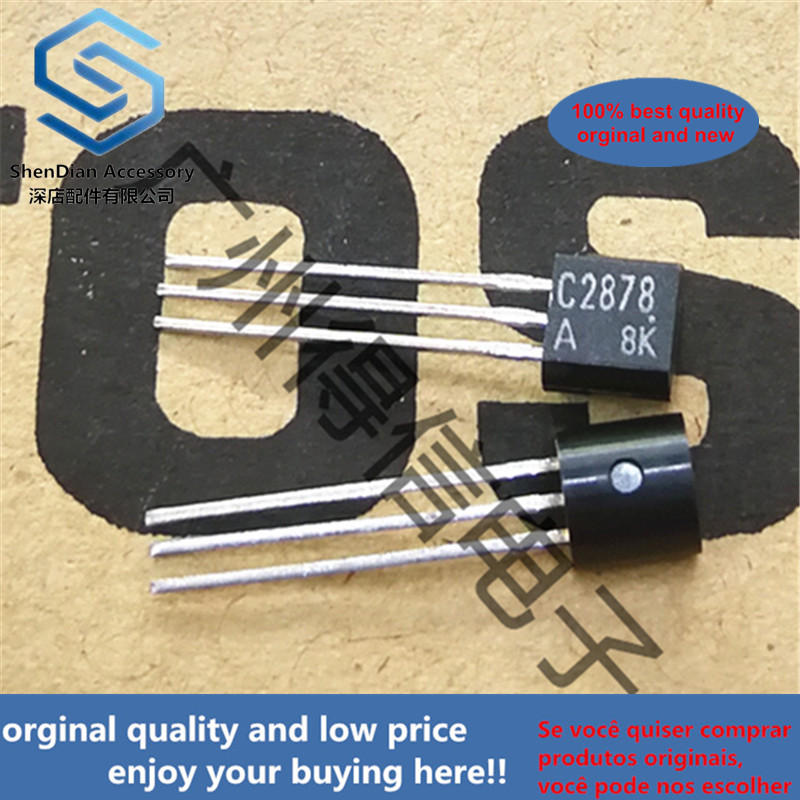 10pcs 100% New And Orginal 2SC2878A C2878 For Muting And Switching Applications TO-92 In Stock