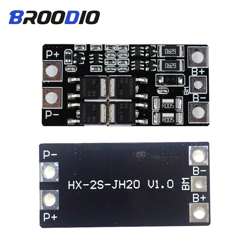 <font><b>2S</b></font> 15A <font><b>20A</b></font> 8.4V 18650 Lithium Battery Protection Board With balancer Circuit Equalizer Module For <font><b>2S</b></font> Battery Pack Accessories image