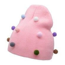 Winter Autumn Hats Baby Newborn Toddler Kids Beanie Crochet Knitted Hat Headwear Caps Accessories