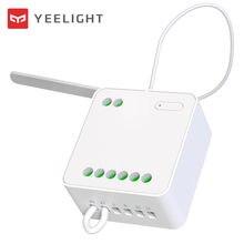 2020 nowy Yeelight dwukierunkowa kontrola moduł bezprzewodowy kontroler przekaźnika 2 kanałowy inteligentny przełącznik pracy z inteligentne mobilne aplikacja na telefon