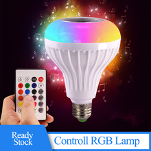 LED Light Bulb RGB E27 Wireless Bluetooth 4.0 Speaker Colorful Music Play Audio For Indoor Activities KTV DJ Party