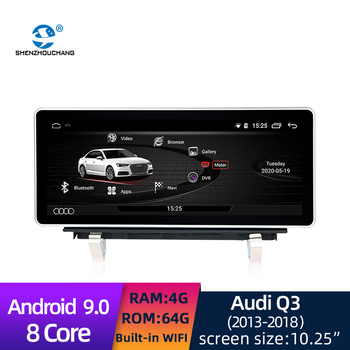 Android 10.0 System HD Touch Screen Car Radio GPS Navigation Bluetooth Video Multimedia Player for Audi Q3 2013-2018 image