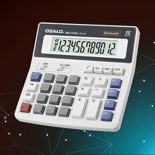 200 мл Калькулятор настольный-12 цифр дисплей солнечной двойной мощности osalo калькулятор