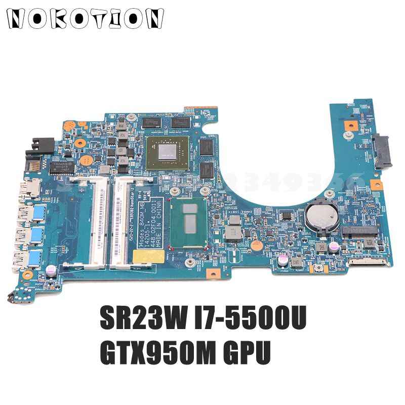 NOKOTION 14205-1 448.02F09.0011 NBMUX11003 NB.MUX11.003 For ACER Aspire VN7-571G Laptop Motherboard I7-5500 CPU GT950M GPU