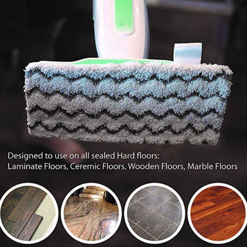 6 Packs Dirt Grip Microfiber Pads Replacement for Shark Steam Mop /Washable/Reusable Compatible S1000/S1000A/S1000C/S1000WM/S100