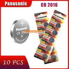 10 stücke original marke neue batterie für PANASONIC cr2016 3v taste cell-münze batterien für uhr computer cr 2016 cheap 90mAh 20mm * 1 6mm Li-ion