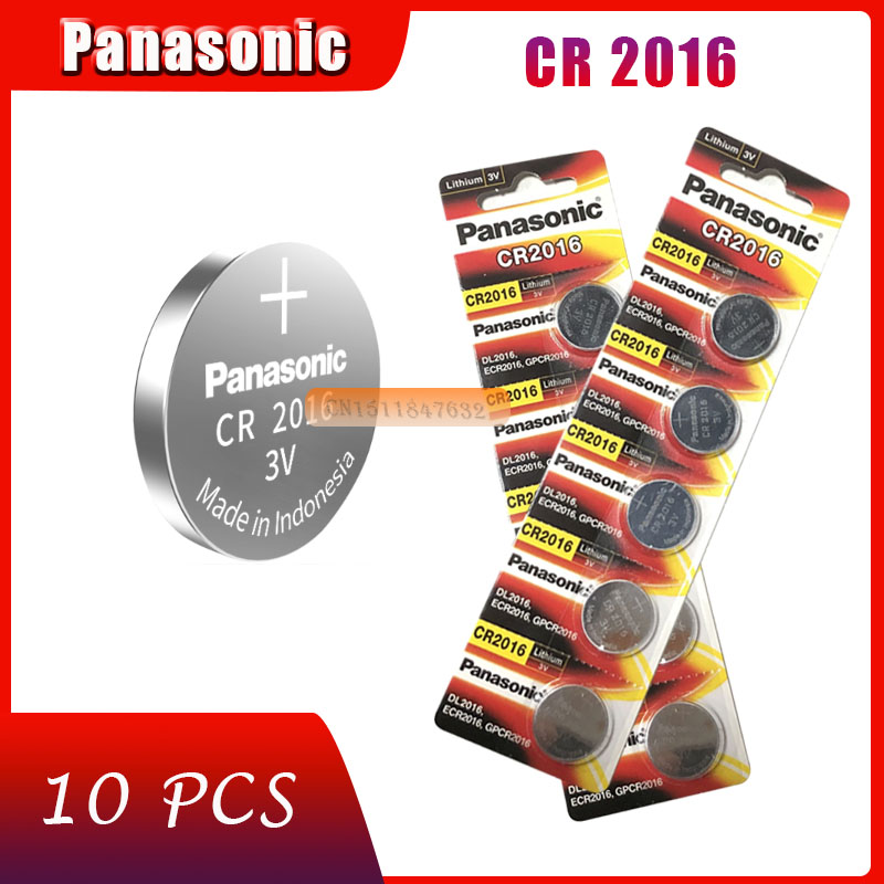 10 шт., оригинальный новый аккумулятор для PANASONIC cr2016 3 в, кнопочные элементы, батарейки для часов, компьютера cr 2016