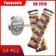 10 pçs original marca nova bateria para panasonic cr2016 3v botão pilha baterias de moeda para relógio computador cr 2016