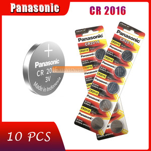 10pcs original brand new battery for PANASONIC cr2016 3v button cell coin batteries for watch computer cr 2016(China)