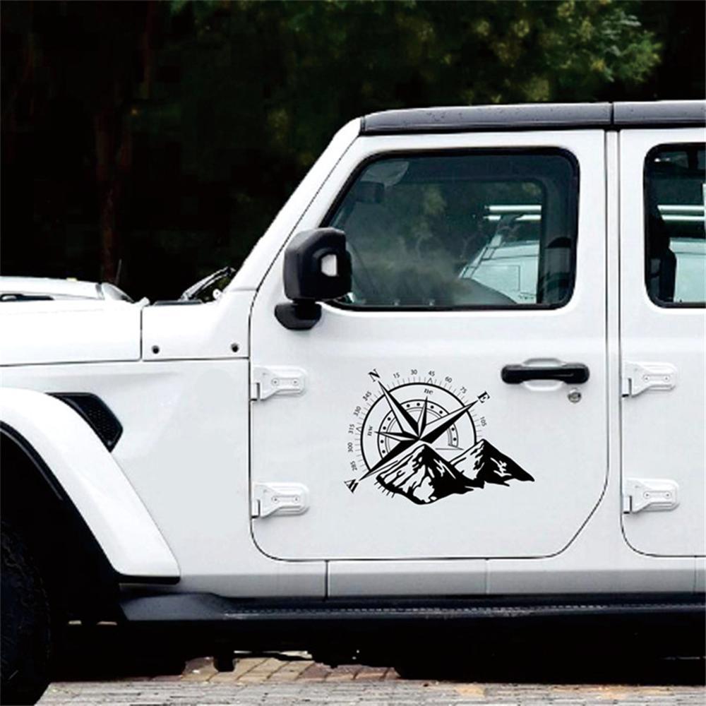 48x34 см автомобильный черный внедорожный компас зимняя Фотографическая бленда виниловая декоративная наклейка