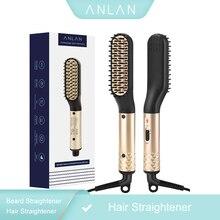 Anlanストレートヘアアイロン櫛耐久性ストレートヘアくしブラシ加熱されたセラミック毛矯正電気ブラシeu、米国
