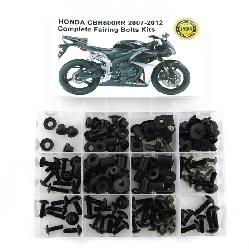 M5 M6 Complete Bolt Fairings Clips Kits 1 Set For Honda CBR600RR 600RR 2007 2008