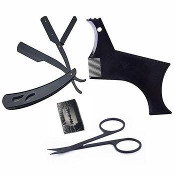 BellyLady Beard Grooming Kit Trimming Shaving Comb Set Mustache Scissors Shaping Shaver 5