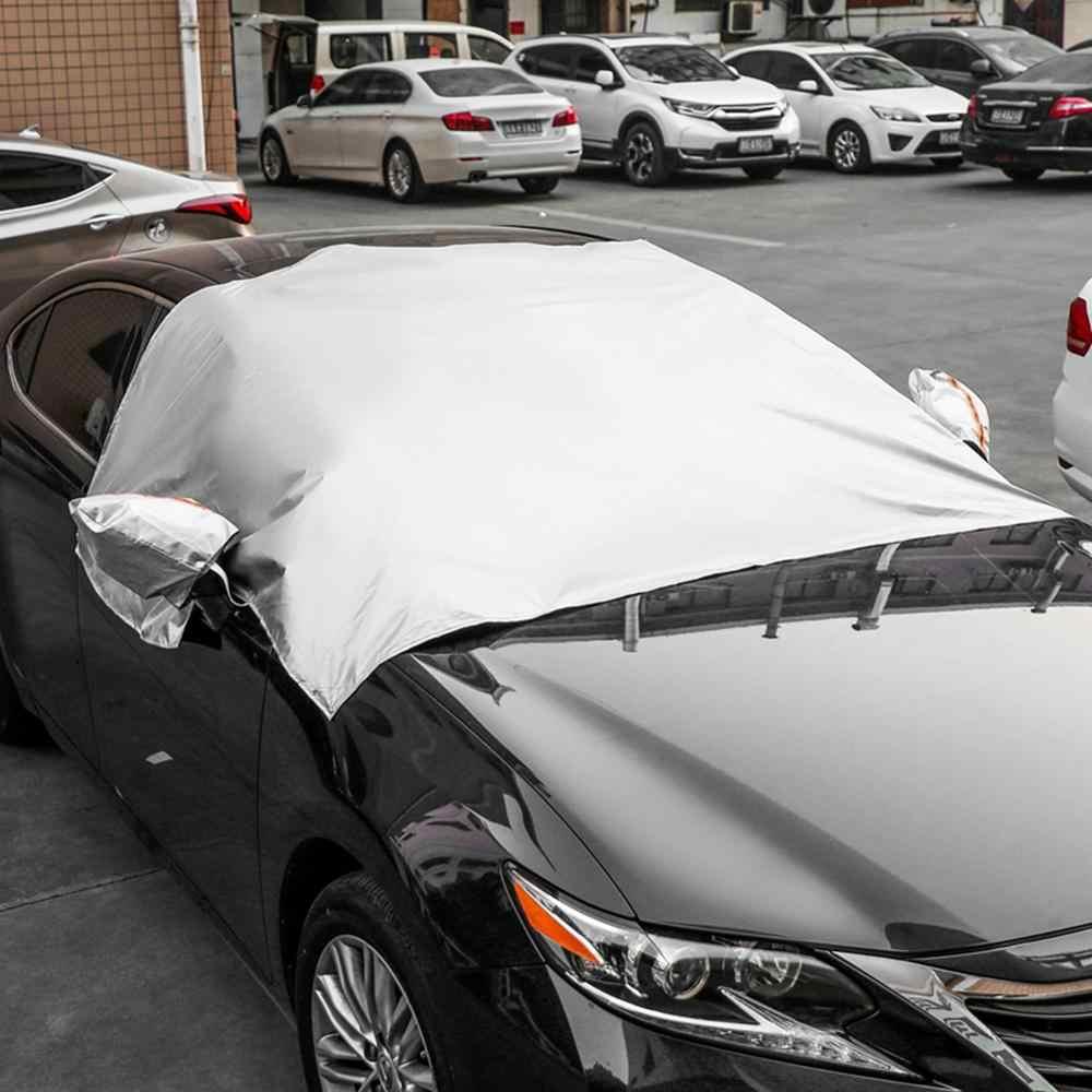 Manyetik araba yarım cam kar kar don kış rüzgar koruyucu manyetik araba kalkanı tüm arabalar için araba aksesuarları