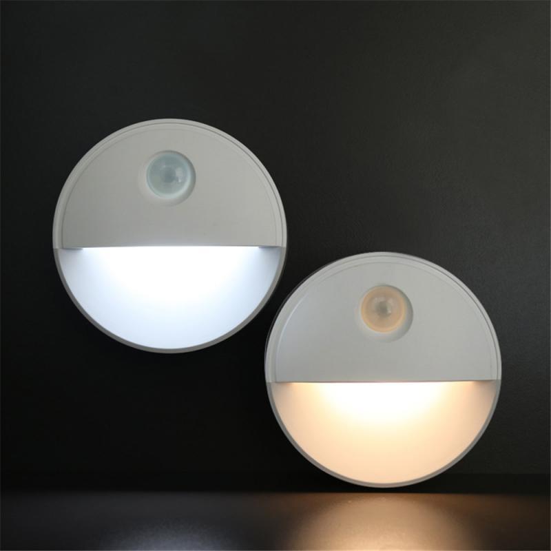 Half Moon Motion Sensor Night Light LED Light Closet Stair Light LED Lamp Hallway Bathroom Bedroom Kitchen Lights