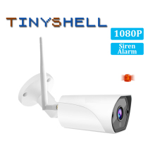 1080P 2MP Outdoor Bullet IP Camera Wifi Surveillance Security Camera Motion Siren Alarm IP66 Waterproof IR CCTV Camera