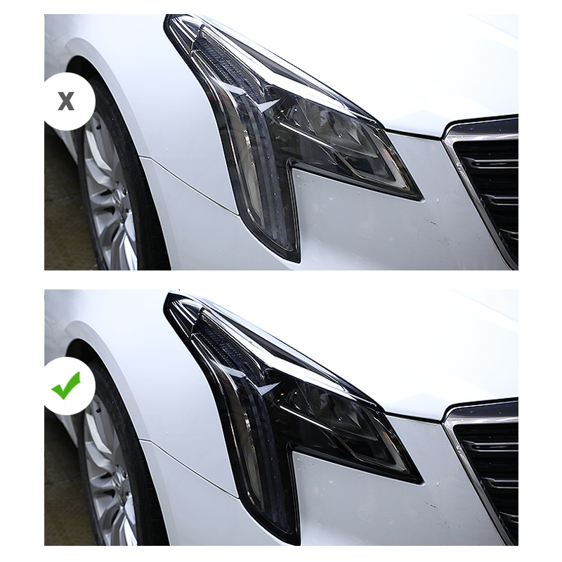 Lsrtw2017 TPU Transparent Transparent Black Car Headlight Film Anti-scratch Sticker For Cadillac Ats Xts Ct6 Xt5 Xt4 Xt6 Ct5