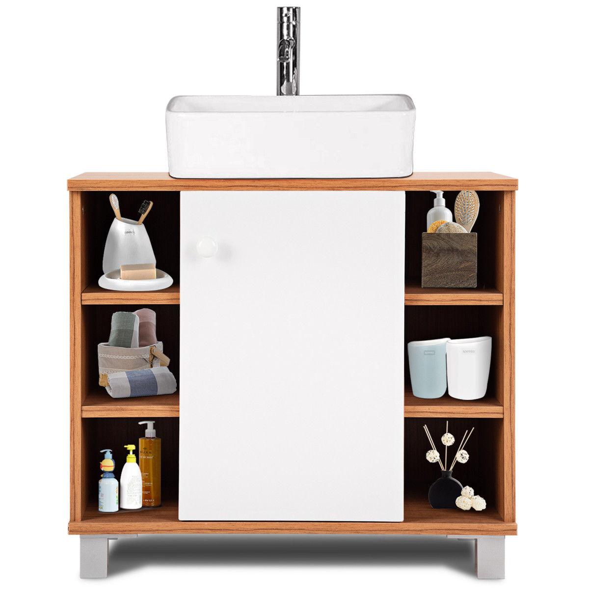 Costway Under Sink Cabinet Bathroom Spacesaver Storage Cabinet 6