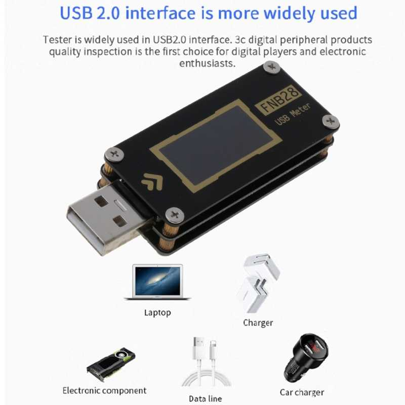 Fnb28 Usb Tester Current Voltage Meter Qc2 0 Qc3 0 Fcp Scp Afc Fast Charging Capacity Test Tool Aliexpress