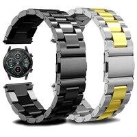 20Mm 22Mm Rvs Polsband Voor Honor Magic 2 42/46Mm Horlogeband Metalen Band Voor honor Horloge Es/Gs Pro Luxe Armband