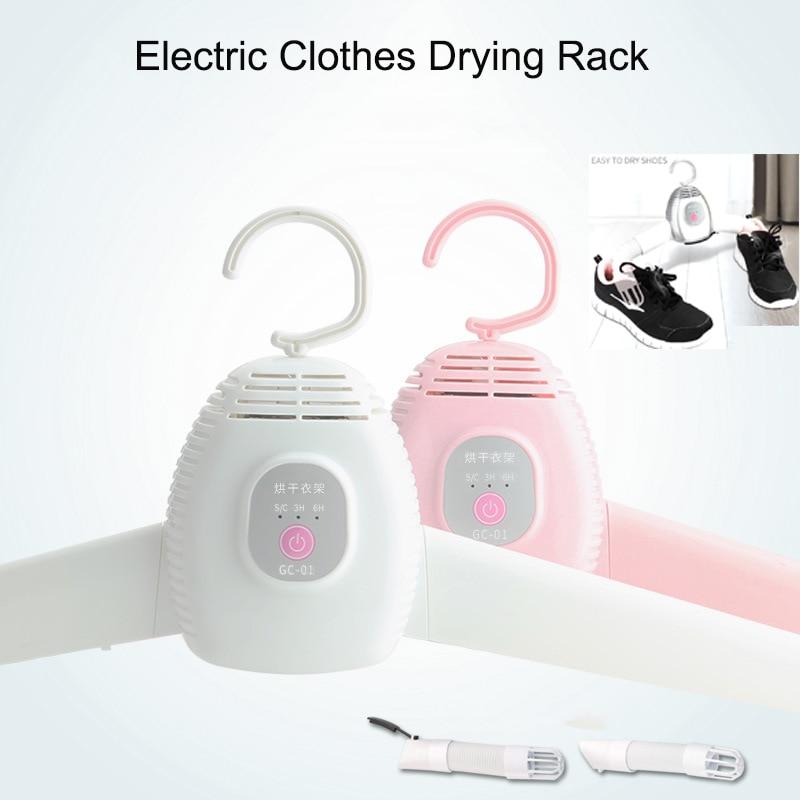 110V/220V Portable Electric Clothes Drying Rack Foldable Electric Clothes Shoes Drying Hangers Clothes Dryer Machine