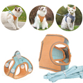 Dog Cat Harness Vest With Walking Lead Leash Adjustable Puppy Kitten Collar Cotton Soft Harness For Small Medium Dogs Chihuahua