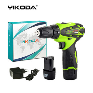 YIKODA 12V Electric Drill Rechargeable Lithium-Ion Battery Cordless Screwdriver Parafusadeira Two-speed Driver Power Tools
